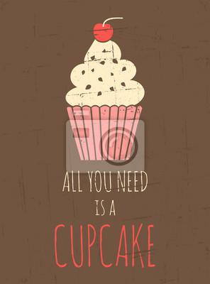 Rétro affiche de petit gâteau