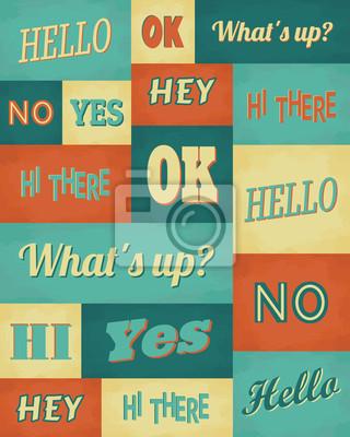 Rétro affiche de typographie