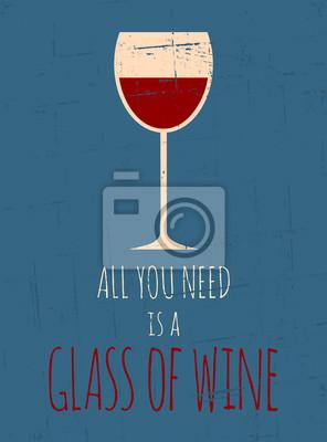 Rétro affiche de vin rouge