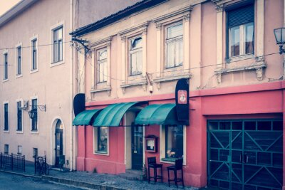 Papiers peints Rétro atmosphère étonnante de centre Oujgorod - café