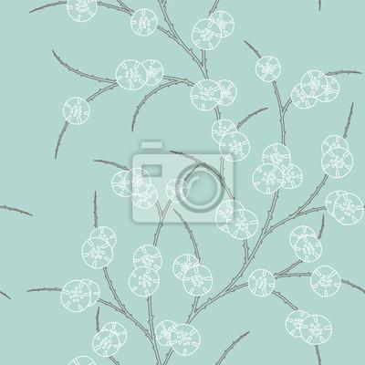 rétro avec ornement floral