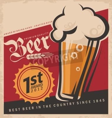 Papiers peints Retro bière vecteur affiche