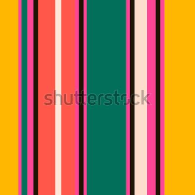 Papiers peints Retro Bright Pattern coloré sans soudure rayures. Fond abstrait vector Couleurs élégantes.