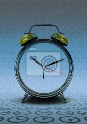 rétro horloge de comptage de temps à l'époque moderne abstrait