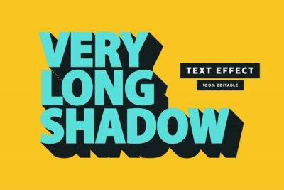 Papiers peints Retro long shadow text effect, editable text