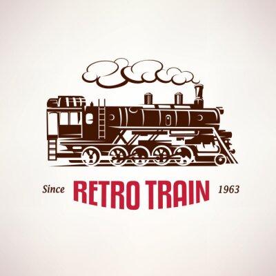 Papiers peints Retro, train, vendange, vecteur, Symbole, emblème ...