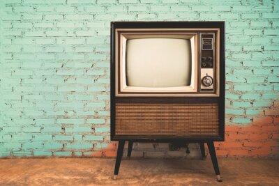 Papiers peints Retro, vieux, télévision, vendange, mur, pastel, couleur, fond