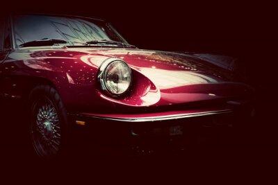 Papiers peints Rétro voiture classique sur fond sombre. Vintage, élégant