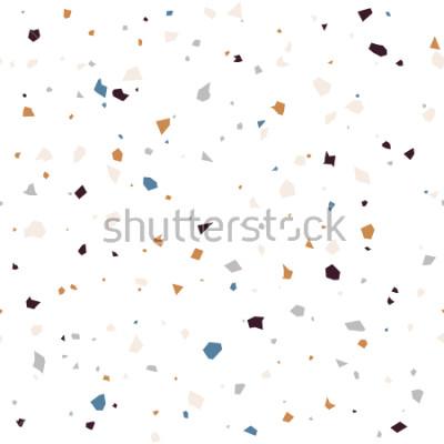 Papiers peints Revêtement de sol en terrazzo motif abstrait moderne de surface texturée. Répétition abstraite sans soudure de vecteur avec des éclats de marbre ou de granit dans des couleurs douces.