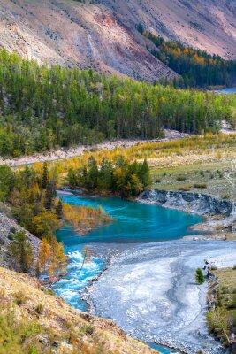 Papiers peints rivière bleue dans les montagnes