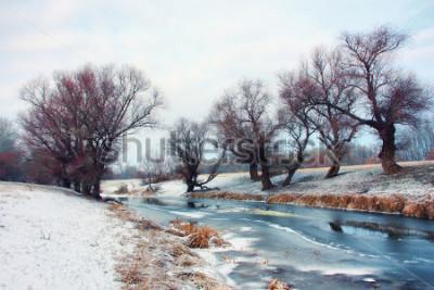 Papiers peints Rivière en hiver