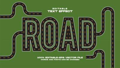 Papiers peints Road Text Effect