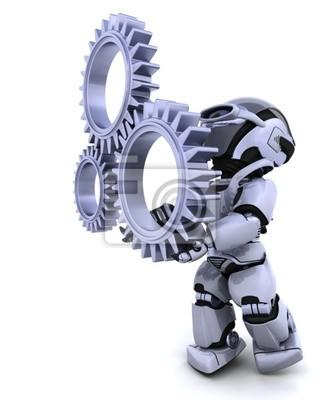 Robot avec mécanisme à engrenages