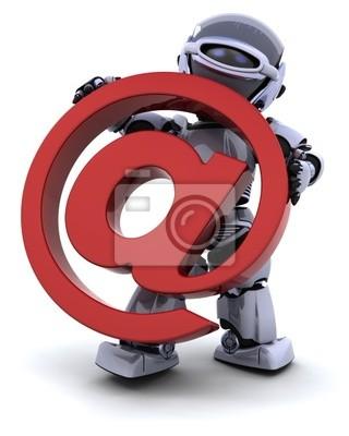 robot avec symbole