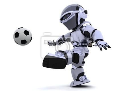 robots qui jouent au soccer