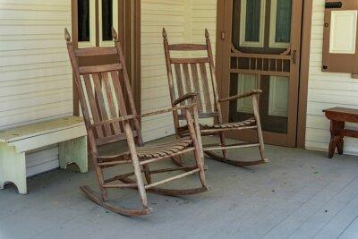 Papiers peints Rocking Chairs on Porch