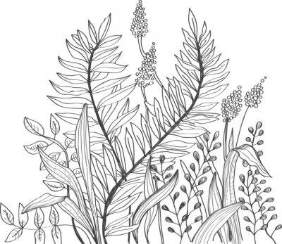 Papiers peints Romantique fleur fond doodle