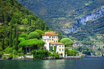 Papiers peints Romantique Lago di Como, villa del Balbianello