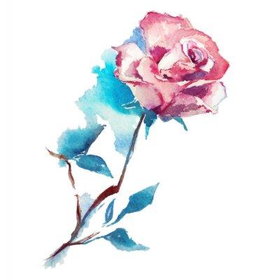 Papiers peints rose aquarelle croquis. Vector illustration.