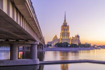 Papiers peints Rose, Coucher soleil, hôtel, Ukraine, moscou, nuit