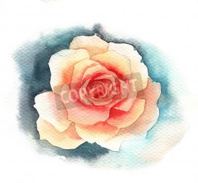 Papiers peints Rose d'aquarelle