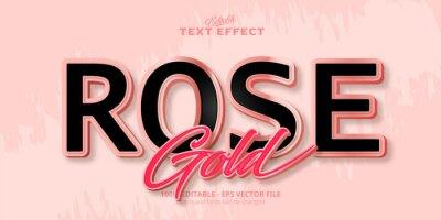 Papiers peints Rose Gold text, editable text effect