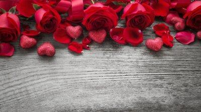 Papiers peints Roses, bois, planche