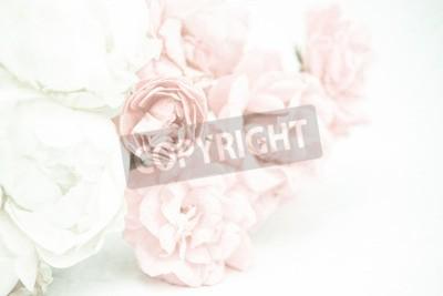 Papiers peints Roses de couleur douce en style doux et flou sur la texture du papier mûrier
