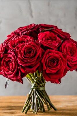 Papiers peints roses rouges