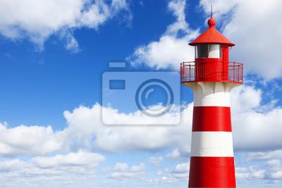 Papiers peints Rot-Weiß Gestreifter Leuchtturm