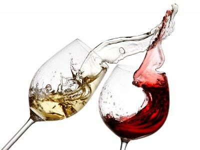 Papiers peints Rouge, blanc, vin, éclaboussure