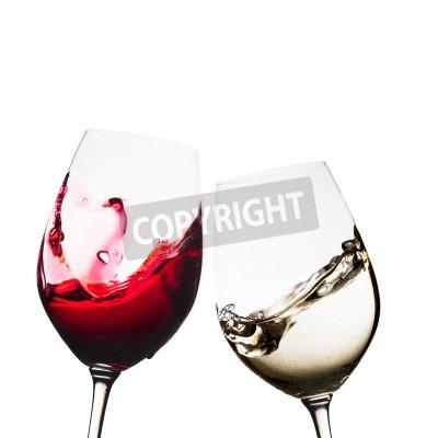 Papiers peints Rouge, blanc, vin, lunettes, isolé