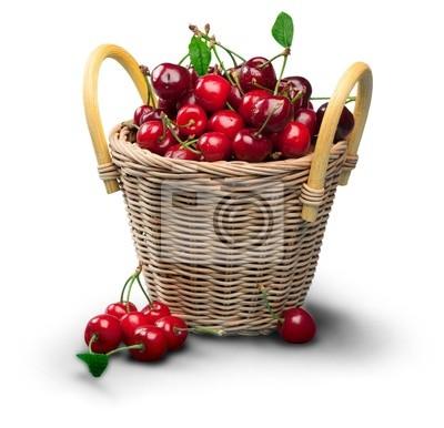 Rouge cerise et feuille