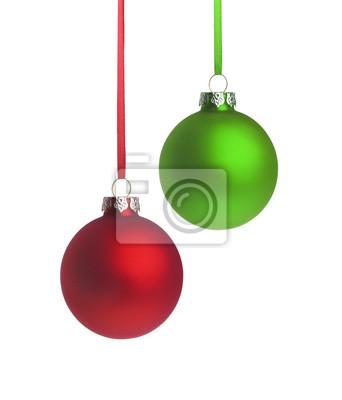 Rouge et vert Weihnachtsugel