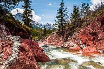 Papiers peints Rouge, rocher, ruisseau, mouvement, canyon