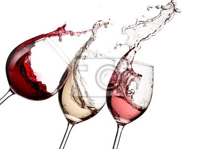 Papiers peints Rouge, rosé et vin blanc jusqu'à