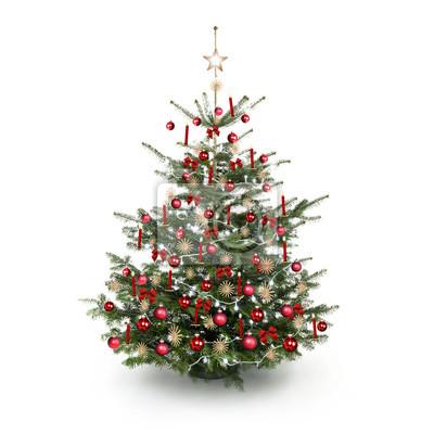 Rouge Sapin de Noël décoré