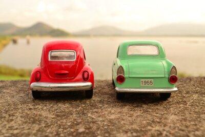 Papiers peints Rouge, vert, jouet, voiture, parc, couple, route