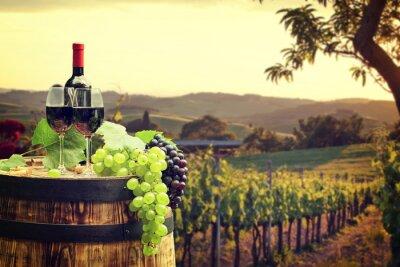 Papiers peints Rouge, vin, baril, vignoble, vert, Toscane