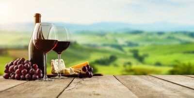 Papiers peints Rouge, vin, servi, bois, planches, vignoble, fond