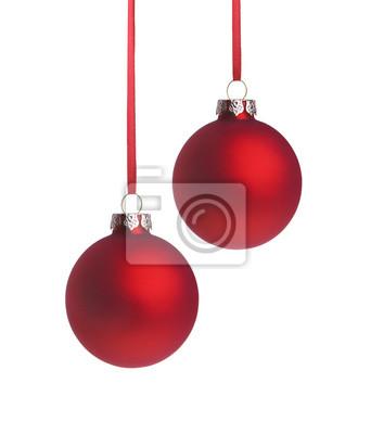 rouge Weihnachtsugeln