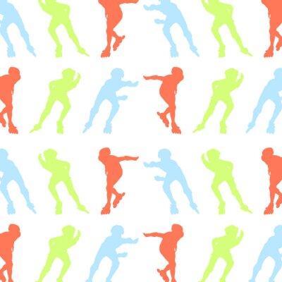 Papiers peints Rouleau, patinage, modèle, vecteur, fond, concept