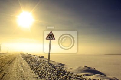 route accidentée