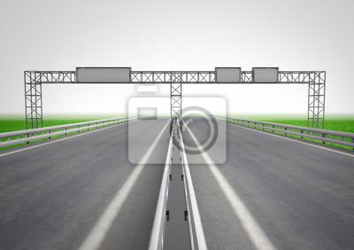 route avec panneau sur le concept de construction