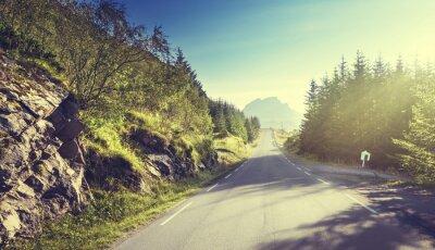 Papiers peints Route, montagne, Lofoten, Îles, Norvège
