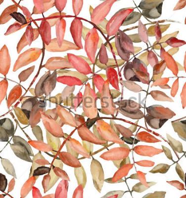 Papiers peints Rowan laisse à l'aquarelle