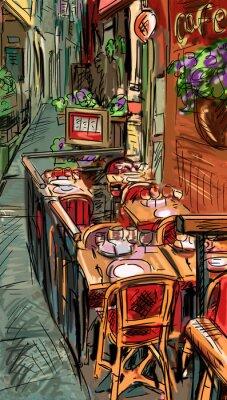 Papiers peints Rue de Rome - illustration