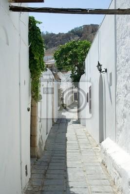 Ruelle de Lindos, Rhodes, Grèce