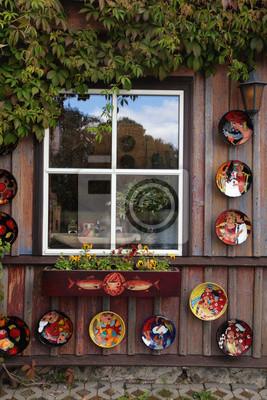 Fenetre Rustique rustique, fenêtre, plaques, en, bois, rural, maison papier peint