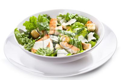 Salade César avec poulet et de légumes verts
